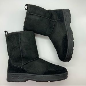 L.L BEAN  SUEDE SHERPA LINED WINTER BOOTS